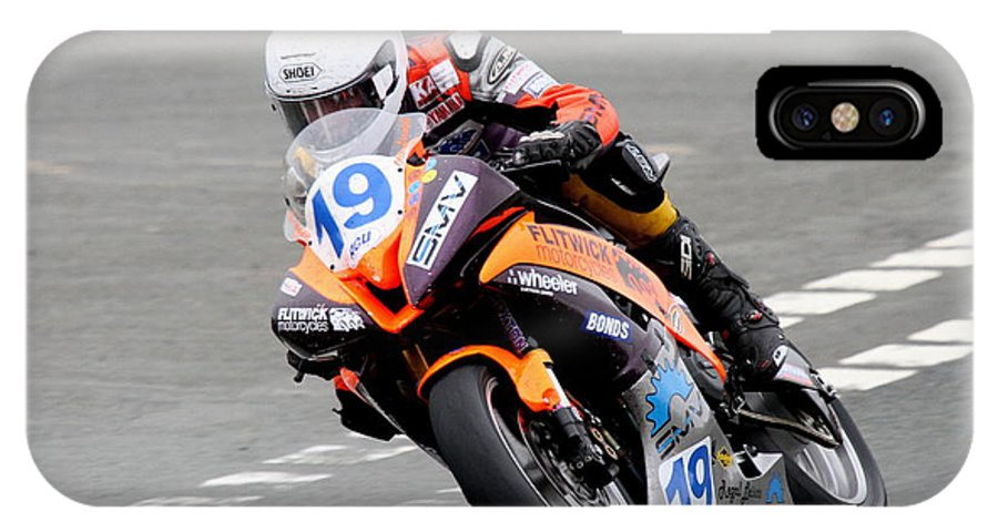 Motorbikes IPhone X Case featuring the photograph Oilver Linsdell by Richard Norton Church