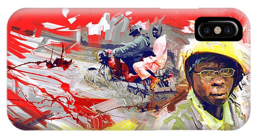 IPhone X / XS Case featuring the digital art Okadaman by David Osagie