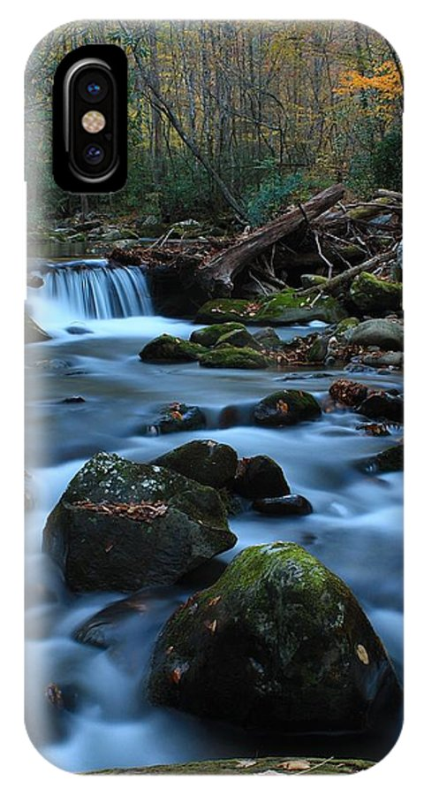 Okonaluftee IPhone X / XS Case featuring the photograph Okonoluftee Mountain Stream by Nunweiler Photography