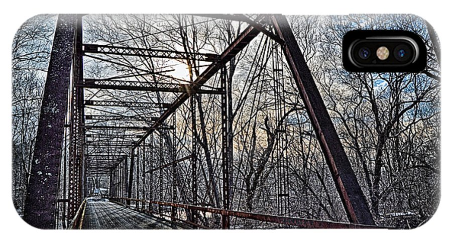 Bucks County IPhone X Case featuring the photograph Ol' Iron Bridge Of Dark Hallow by Tim Kravel