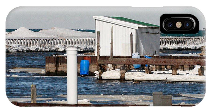 Olcott Beach IPhone X Case featuring the photograph Olcott Beach Harbor by Michael Allen