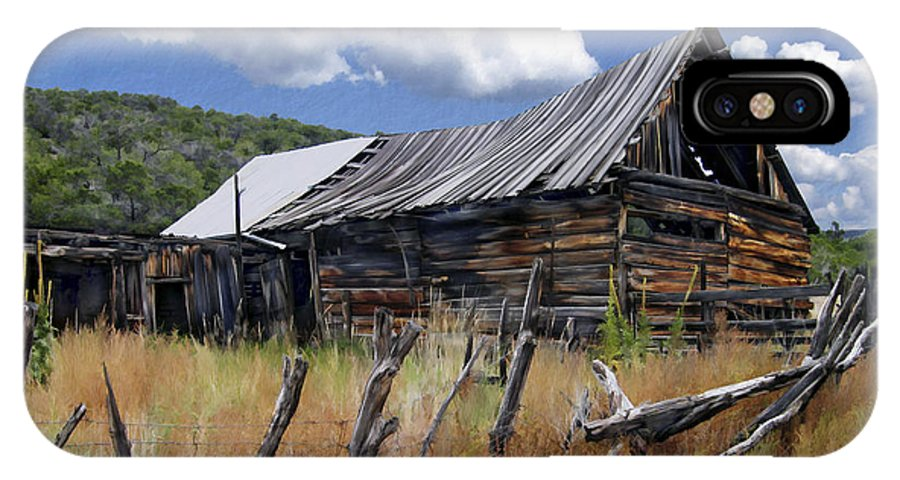 Barn IPhone X Case featuring the photograph Old Barn Las Trampas New Mexico by Kurt Van Wagner