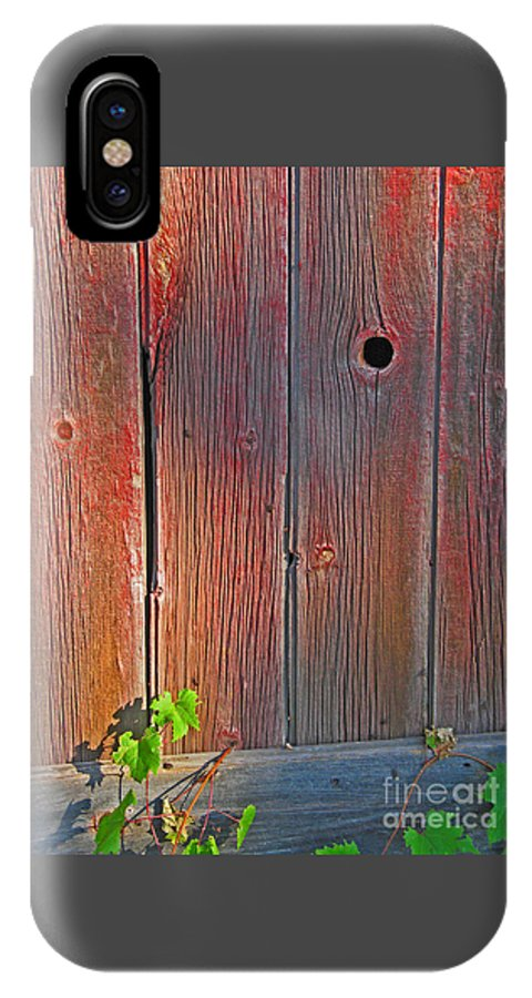 Barn IPhone X Case featuring the photograph Old Barn Wood by Ann Horn