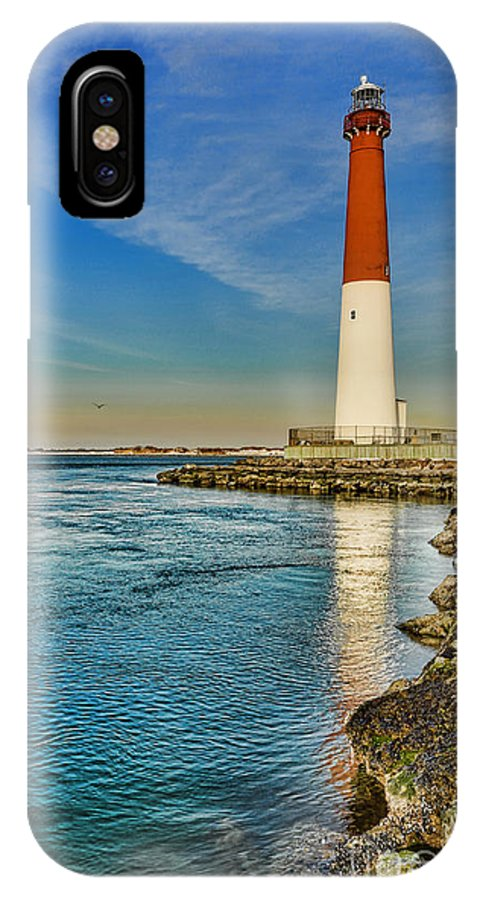 Barnegat Lighthouse IPhone X / XS Case featuring the photograph Old Barney At Sunrise - Barnegat Lighthouse by Lee Dos Santos