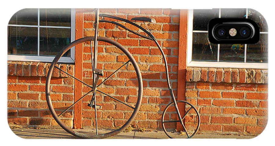 Sculpture IPhone X Case featuring the photograph Old Bike by Mary Carol Story