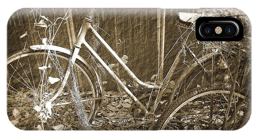 Old IPhone X Case featuring the photograph Old Bikes by Laurie Perry