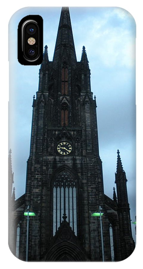 Cathedral Sky Scape IPhone X Case featuring the photograph Old Blue by Judy Sheade