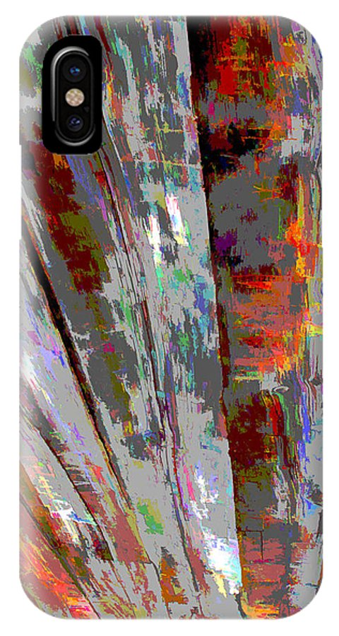 Abstract IPhone X Case featuring the photograph Old Boards by Barbara McDevitt
