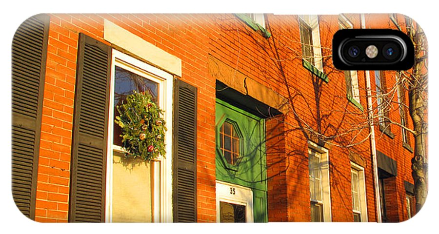Cityscape IPhone X Case featuring the photograph Old Charestown Neighborhood by Barbara McDevitt