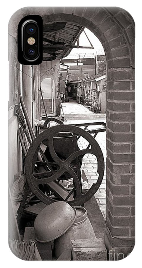 Old IPhone X Case featuring the photograph Old Chinese Village Street by Yali Shi