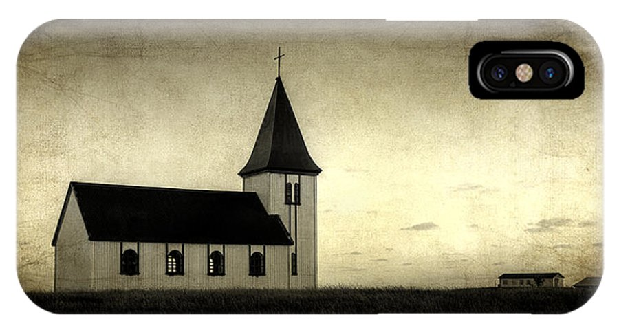 Aged Default IPhone X Case featuring the photograph Old Church by Arnie Arnold