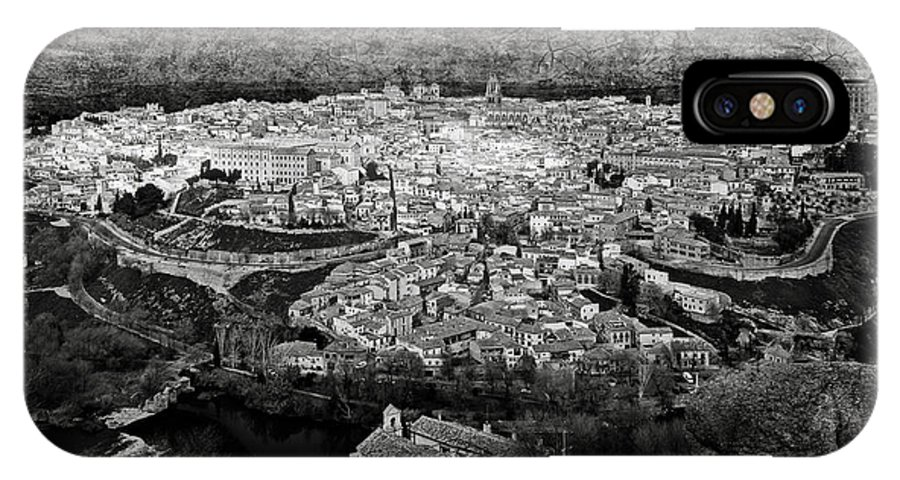 Toledo IPhone X Case featuring the photograph Old City Of Toledo Bw by RicardMN Photography