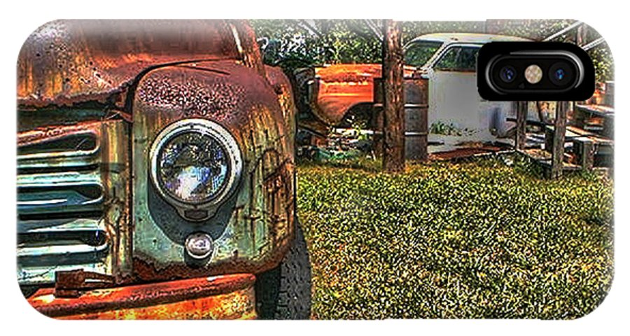 Old IPhone X Case featuring the photograph Old Dodge Truck by Van Bunch