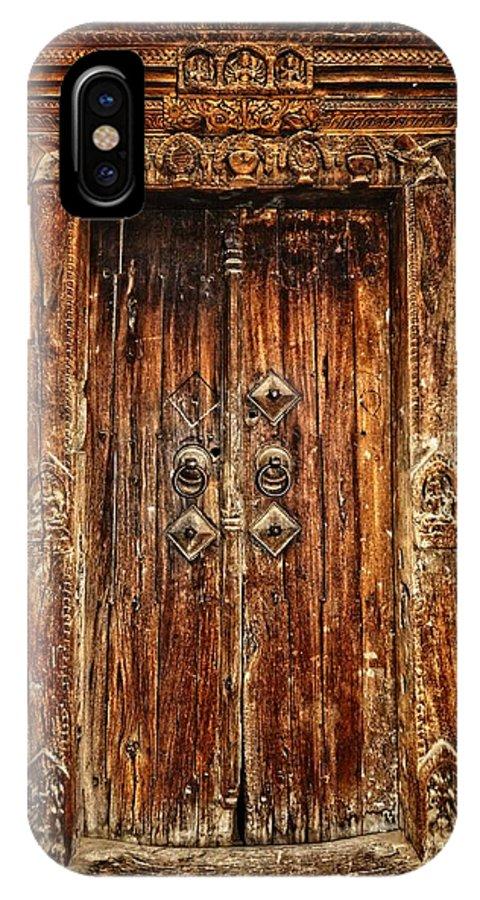 Door IPhone X Case featuring the photograph Old Doorway by Rene Schuiling