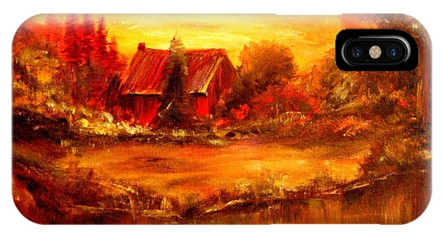 Barn IPhone Case featuring the painting Old Dutch Farm by Jeff Troeltzsch