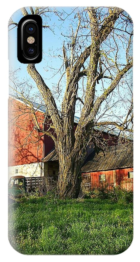 Pennsylvania IPhone X Case featuring the photograph Old Farm by Debbie Summers
