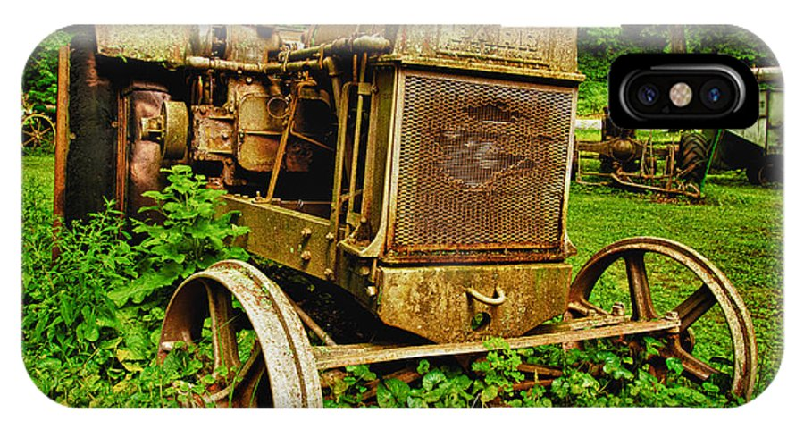 Antique IPhone X Case featuring the photograph Old Farm Tractor by Sebastian Musial