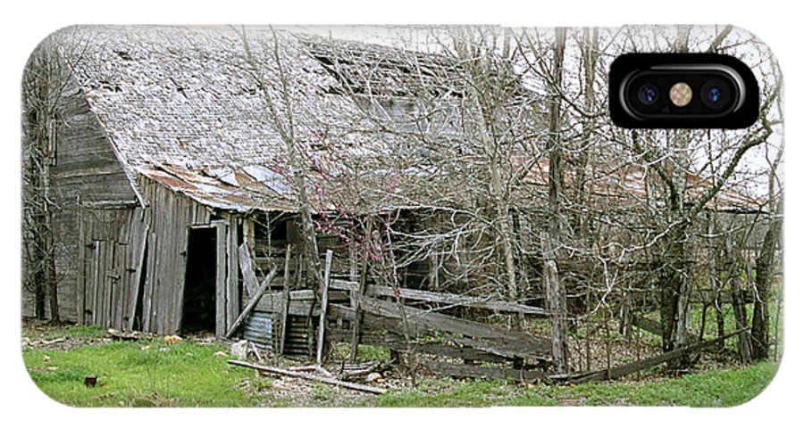 Structures IPhone X Case featuring the photograph Old Farmhouse by Jim Smith