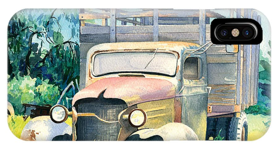 Water Color IPhone Case featuring the painting Old Kula Truck by Don Jusko