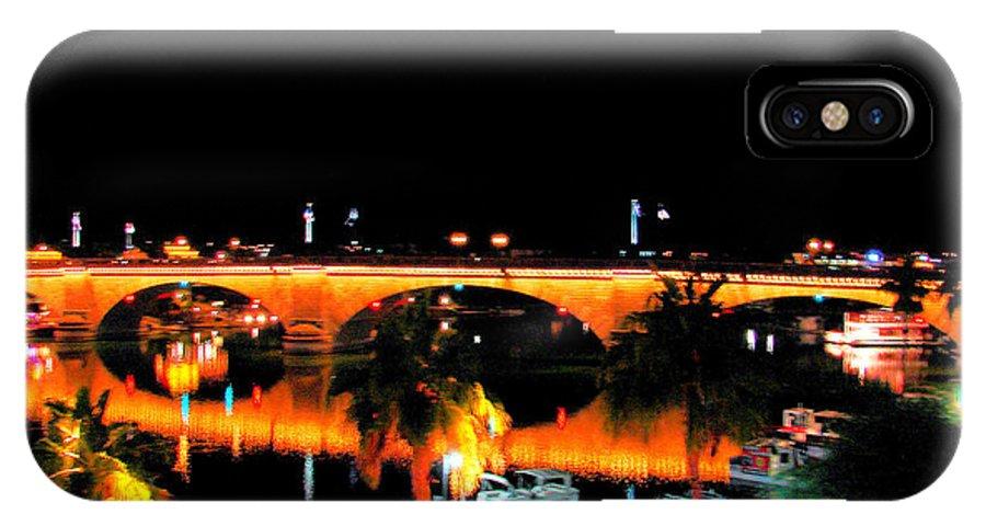 London Bridge IPhone X Case featuring the photograph Old London Bridge by John Potts