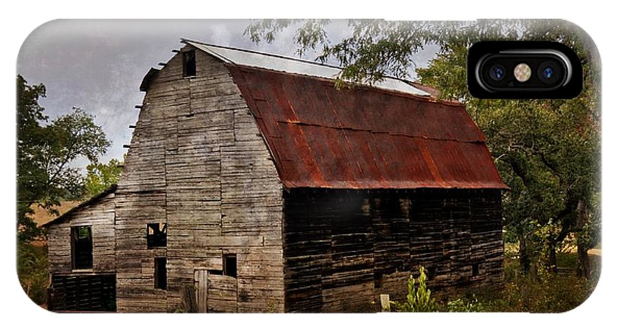 Barn IPhone X Case featuring the photograph Old Oak Barn by Marty Koch