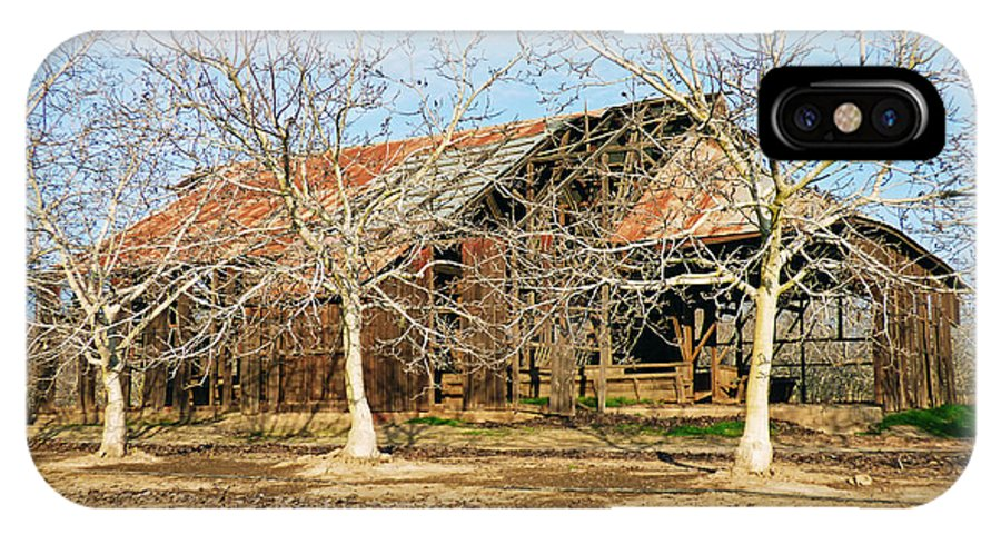 Barn IPhone X Case featuring the photograph Old Orchard Barn by Pamela Patch