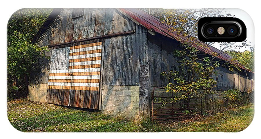 Barn IPhone X Case featuring the photograph Old Patriot by Marian DeSalvo-Rodgers