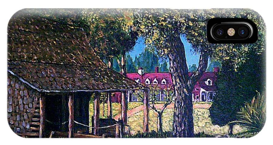 Landscape IPhone X Case featuring the painting Old Plantation Tool House by Frank Morrison