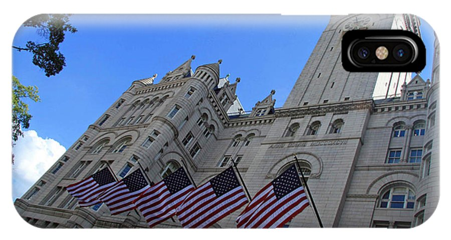 Old Post Office IPhone X Case featuring the photograph The Old Post Office Or Trump Tower by Cora Wandel