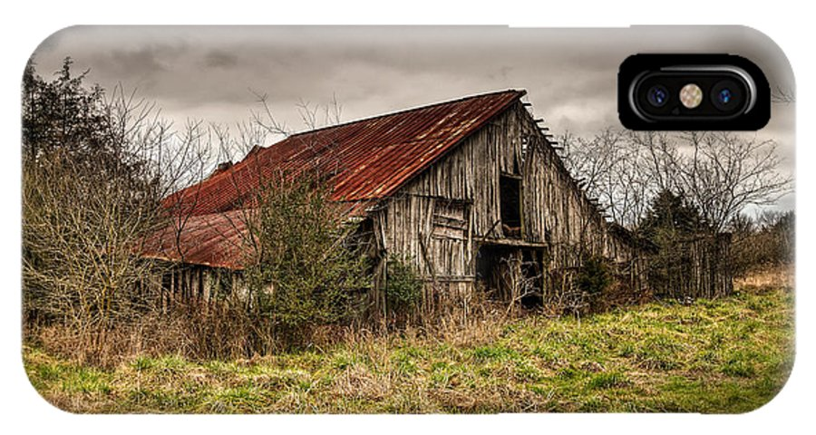 Old IPhone X Case featuring the photograph Old Rustic Barn by Brett Engle