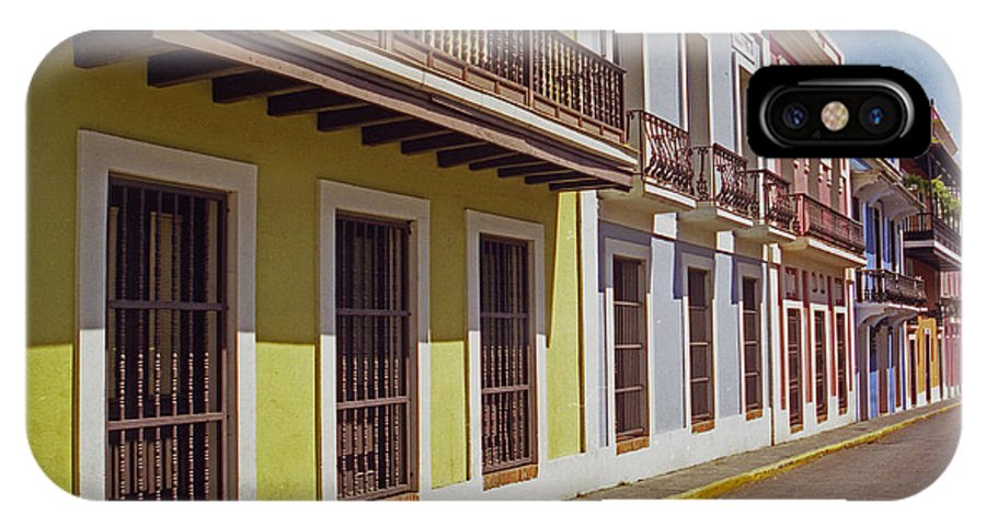 Old San Juan IPhone X Case featuring the photograph Old San Juan by Guillermo Rodriguez