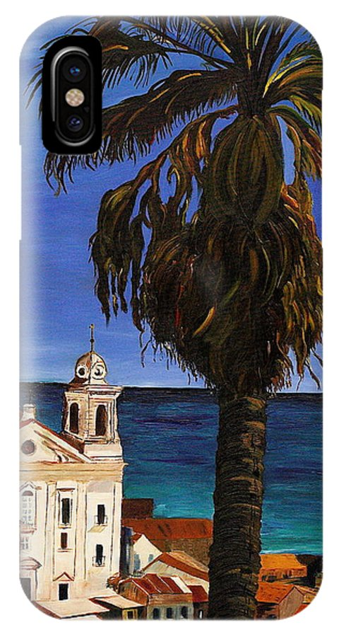 Puerto Rico Prints IPhone X Case featuring the painting Old San Juan Ruerto Rico by Impressionism Modern and Contemporary Art By Gregory A Page