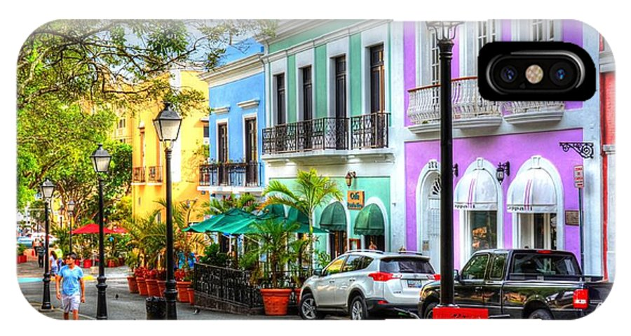 Street IPhone X Case featuring the photograph Old San Juan Street by Debbi Granruth