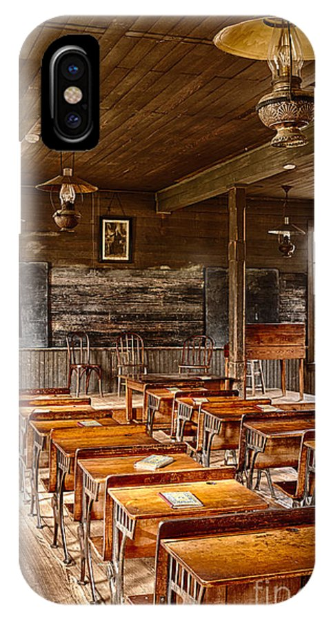 America IPhone X Case featuring the photograph Old Schoolroom by Inge Johnsson