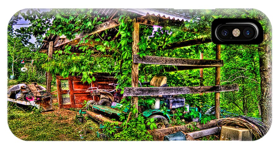 Country IPhone X Case featuring the photograph Old Shed by Jonny D
