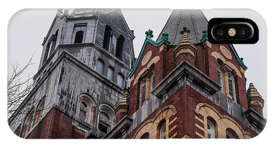 Church IPhone X Case featuring the photograph Old Steeple by Andrew Dimmitt