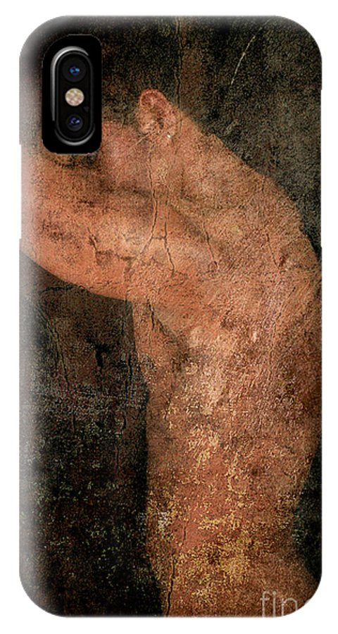 Male Nude Art IPhone X Case featuring the photograph Old Story by Mark Ashkenazi