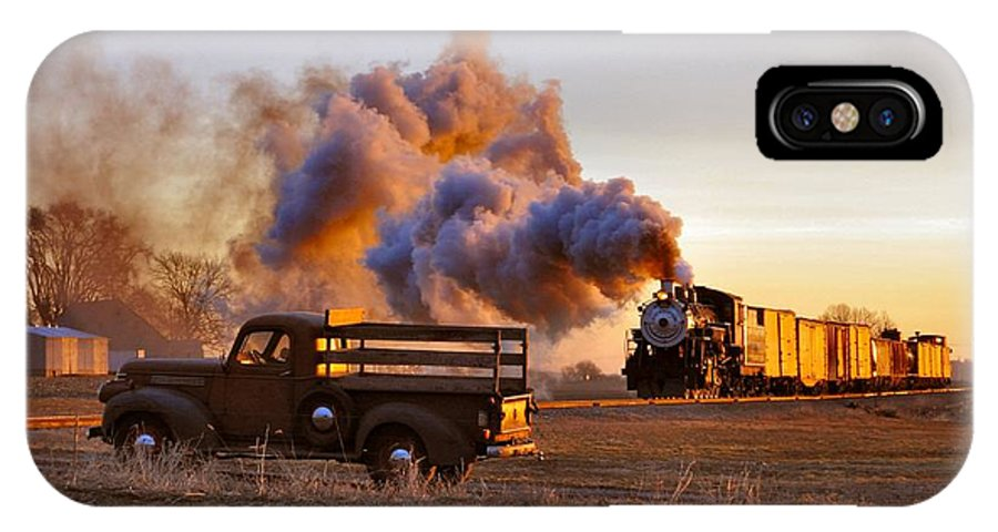 Steam IPhone X Case featuring the photograph Old Time Steam by Evan Schilling