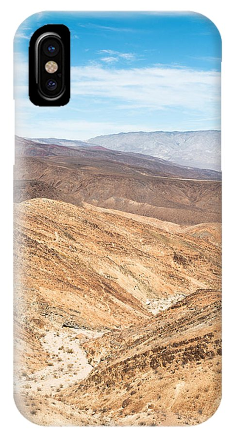 Landscape IPhone X / XS Case featuring the photograph Old Toll Road Landscape In Death Valley by Alyaksandr Stzhalkouski
