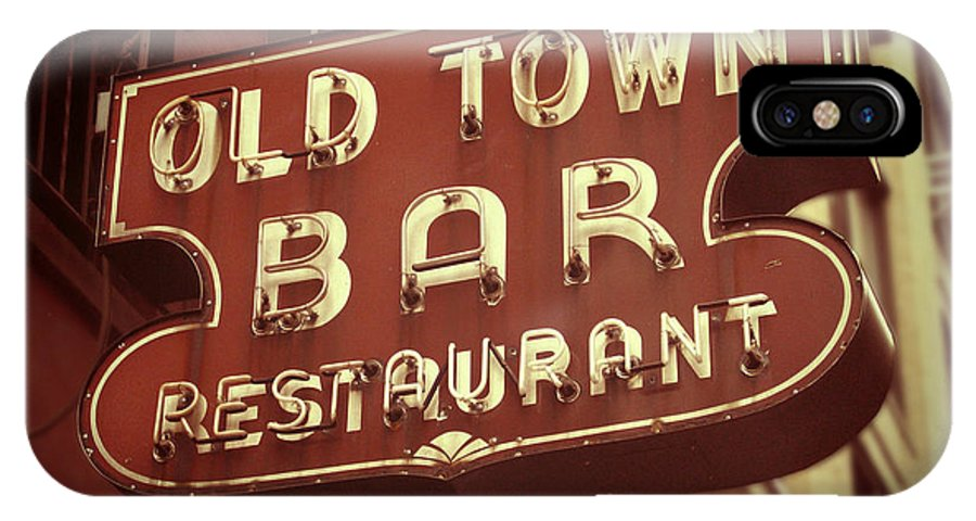 Old Town Bar IPhone X Case featuring the digital art Old Town Bar - New York by Jim Zahniser