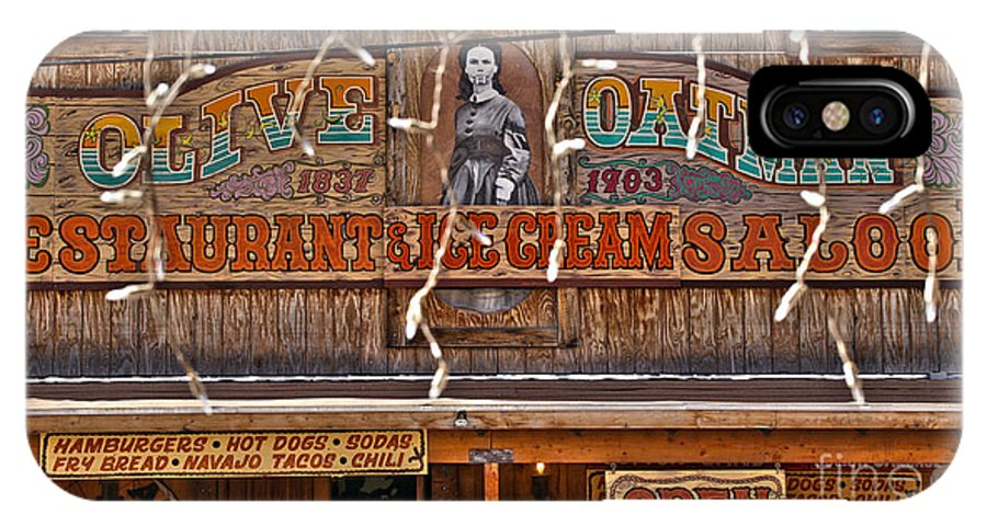 Vintage IPhone X Case featuring the photograph Old Town Saloon by Crystal Harman