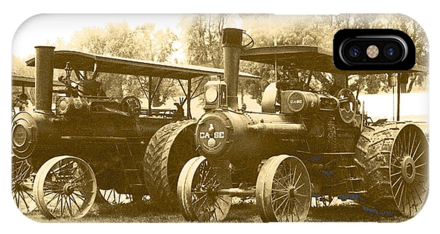 IPhone X Case featuring the photograph Old Tractors by Debbie Hart
