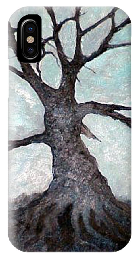 Landscape IPhone Case featuring the painting Old Tree by Sergey Bezhinets