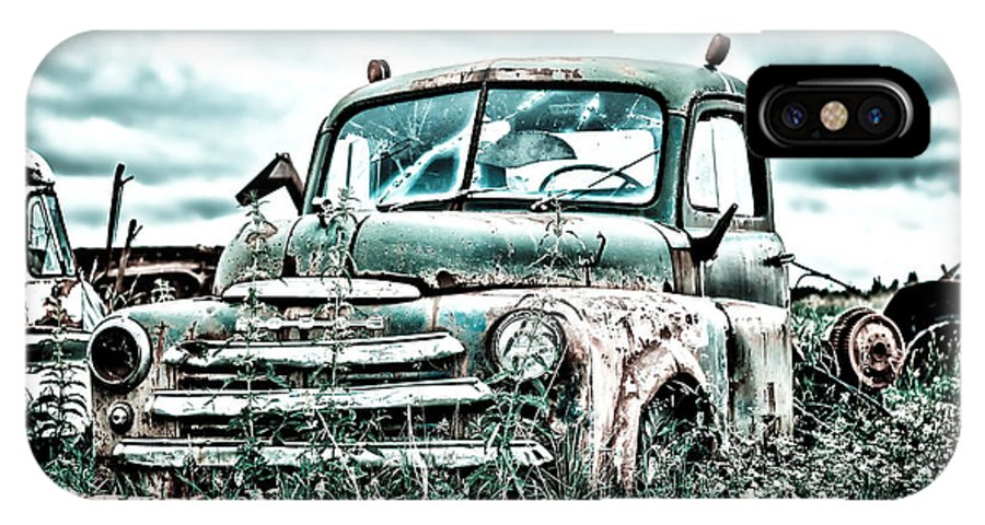 Truck IPhone X Case featuring the digital art Old Truck - Cool Glaze by Lori Frostad