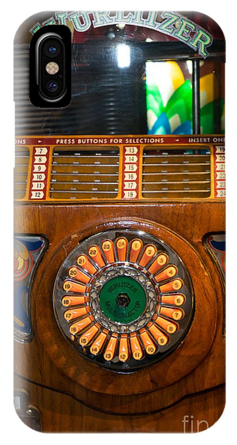 Old Vintage Wurlitzer Jukebox Dsc2823 IPhone X Case