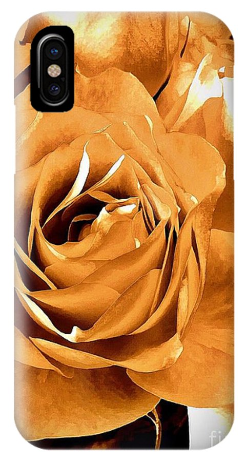 Old World Roses IPhone X / XS Case featuring the photograph Old World Roses by Saundra Myles