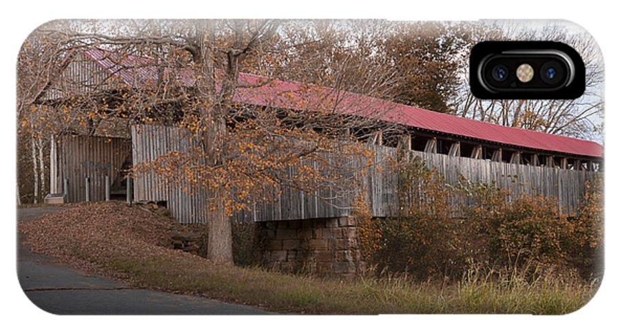 Architecture IPhone X Case featuring the photograph Oldtown Covered Bridge by Jack R Perry
