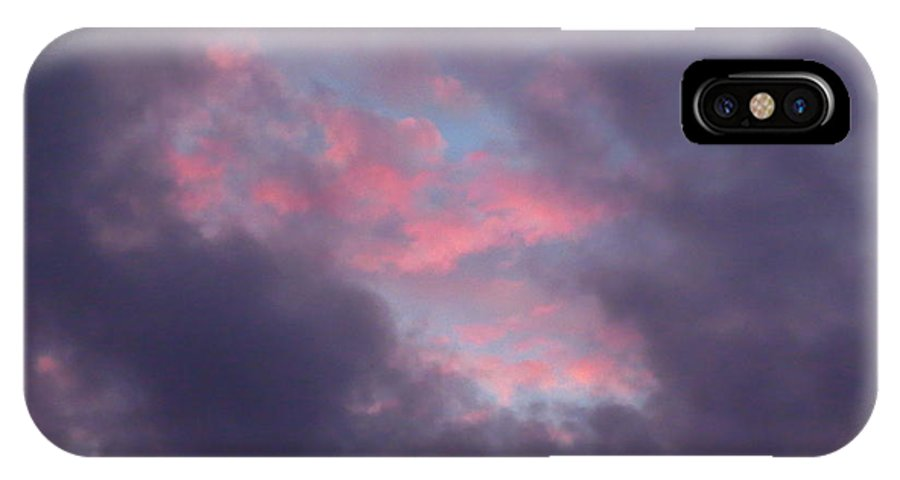 Ominous Clouds Surrounding A Beautiful Sunset 3 IPhone X Case featuring the photograph Ominous Clouds Surrounding A Beautiful Sunset 3 by Robert Birkenes