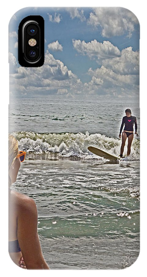 Life Guard IPhone X Case featuring the photograph On Duty by Tom Gari Gallery-Three-Photography
