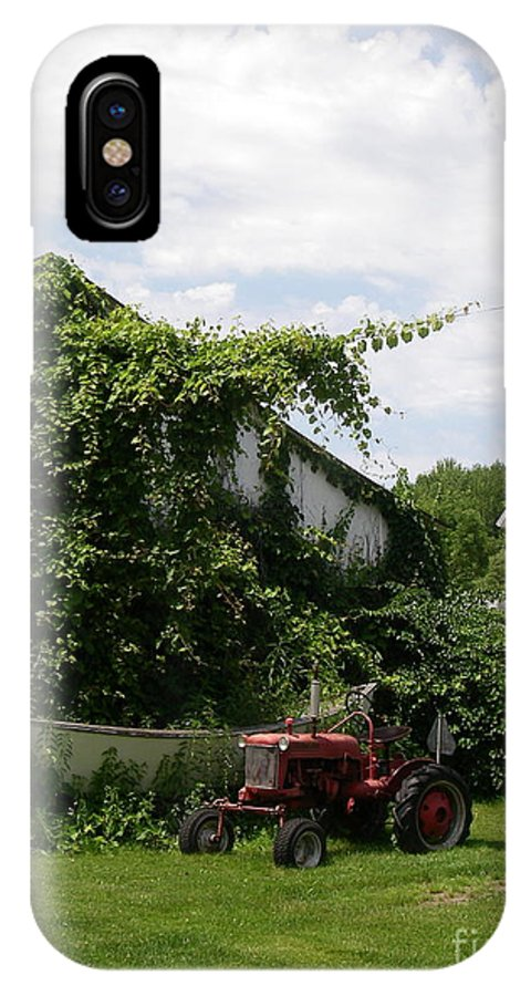 Farm IPhone X Case featuring the photograph On The Farm I by Lai S Smith